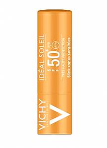 Vichy Ideal Soleil Stick for Sensitive Areas SPF50+ 9gr για μάτια χείλη