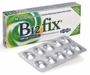 Uni-Pharma B12 Fix 1000mg 30 tabs Βιταμίνη B12