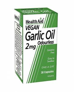 Health Aid Garlic Oil Odourless 30 caps  Έλαιο Σκόρδου 2mg άοσμο