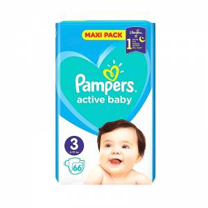 Pampers Active Baby Dry No3 MAXI (6-10Kg) 66τμχ