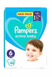 Pampers Active Baby Dry Maxi No6 (13-18kg) 44τμχ
