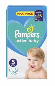 Pampers Active Baby Maxi Pack Νο5 (11-16kg) 51τμχ
