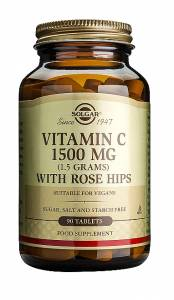 Solgar Vitamin C 1500mg with Rose Hips 90 ταμπλέτες